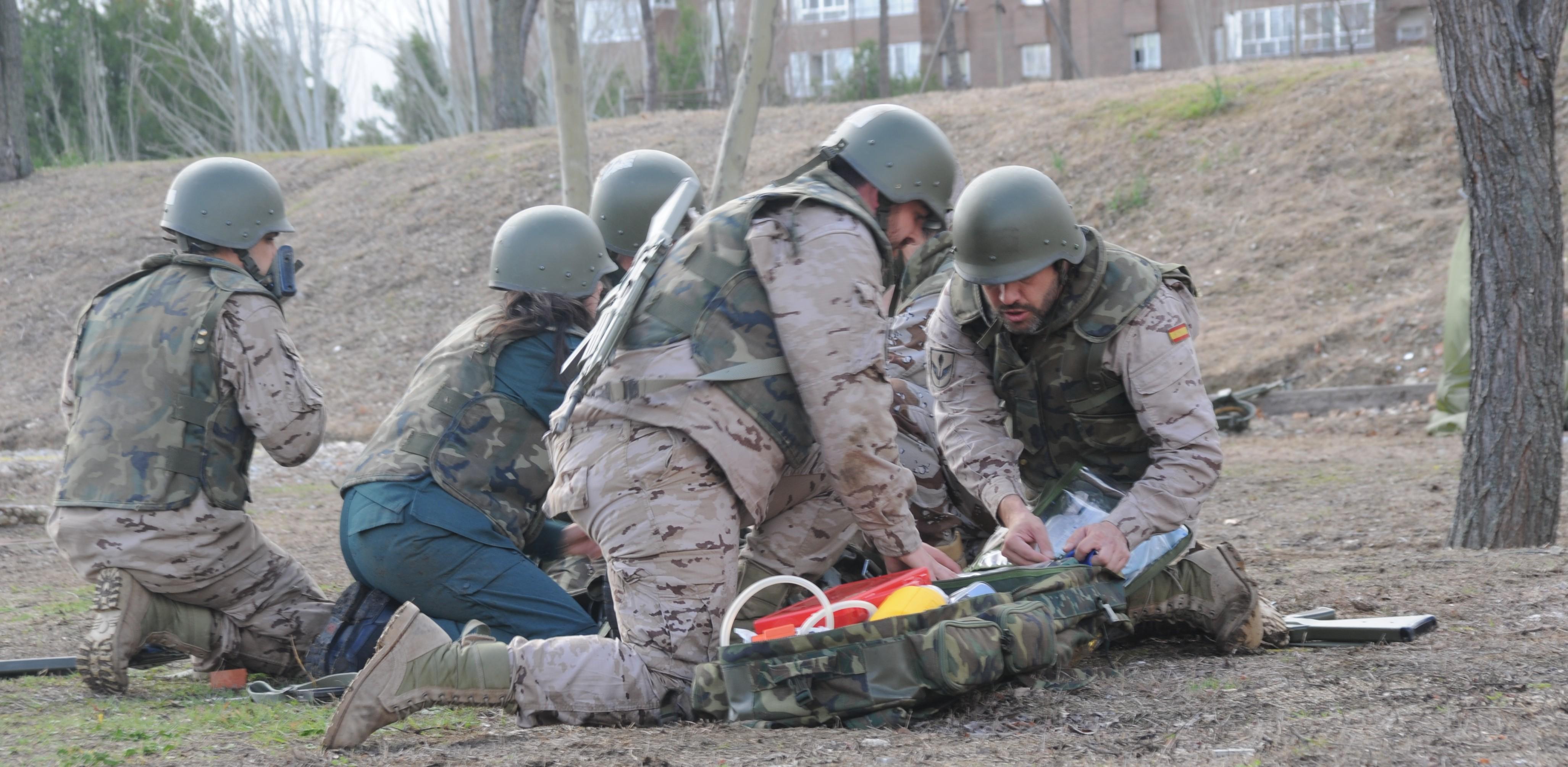 La enfermería militar española