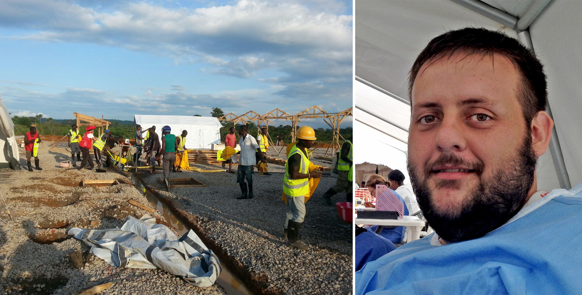 Enrique Villoslada, enfermero de Cruz Roja en Sierra Leona:
