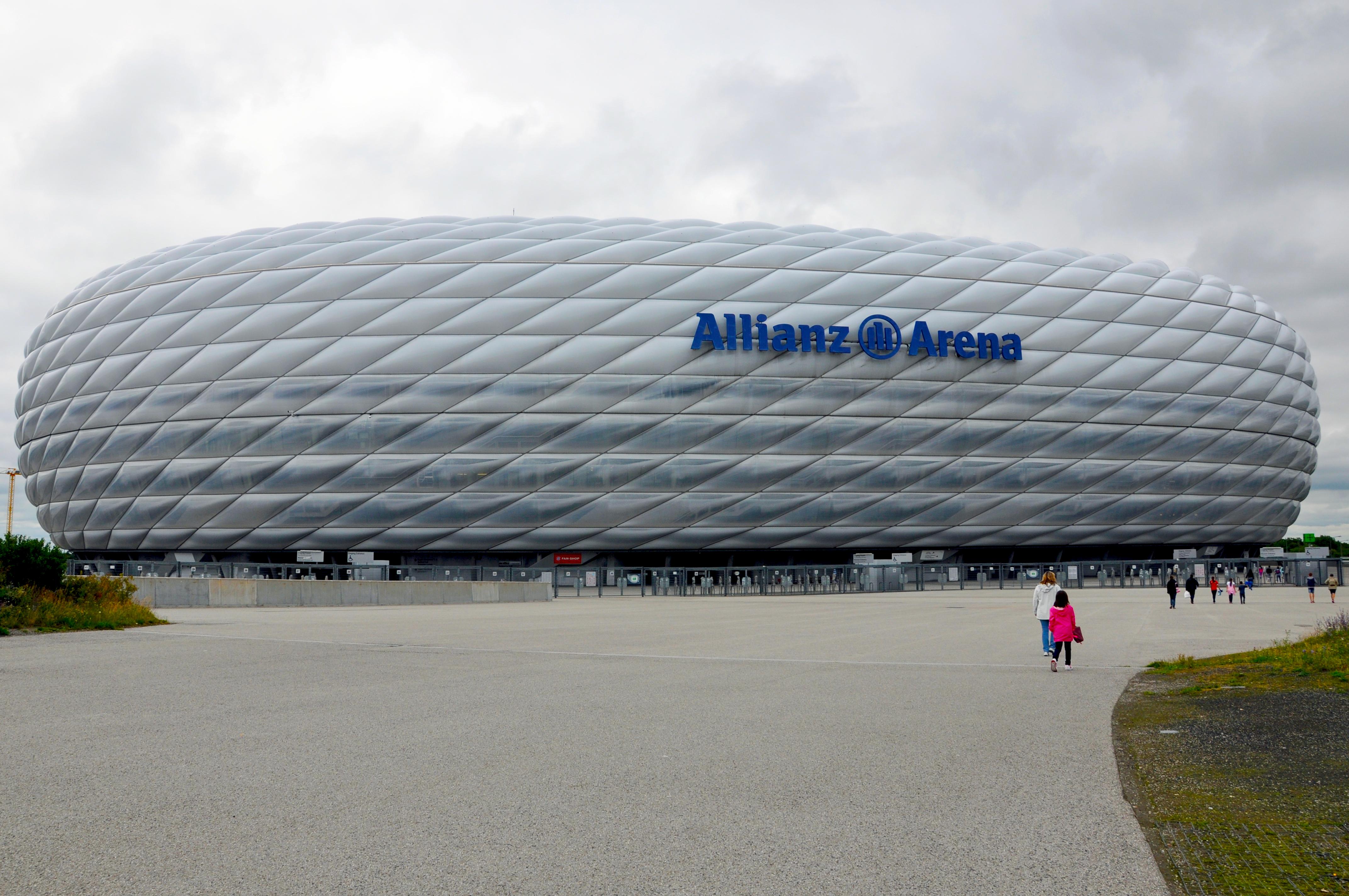 Vista exterior del estadio Allianz Arena
