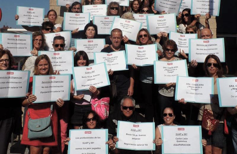 El personal de Urgencias y 061 continúa con la huelga en Cantabria
