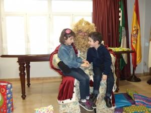 El Rey Gaspar en el Colegio de Enfermería de Almería el año pasado.