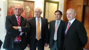 Juan José Rodríguez Sendín, José María San Segundo, Jesús Antonio Álvarez y Máximo González Jurado.