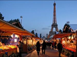 El mercadillo de París en Navidad. imagen: Creative Commons