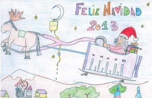 Primer premio 9-12 años concurso de christmas 2013 (Cádiz)