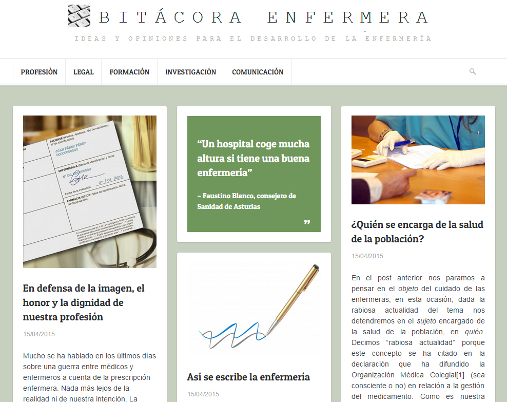 Nace Bitácora Enfermera, una plataforma de blogs para compartir experiencias y opiniones