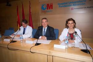 Mesa inaugural de las de Actividad Científica de Enfermería del Hospital Universitario Fundación Alcorcón (HUFA)