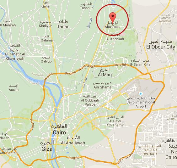 Situación en Egipto del pueblo de Abu Zabel