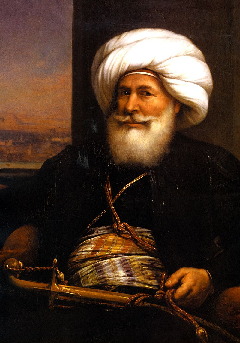 Retrato del virrey Mehmet Alí (1769-1849) , obra del pintor Auguste Couder
