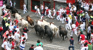 Uno de los encierros de los Sanfermines. Imagen: Ayuntamiento de Pamplona
