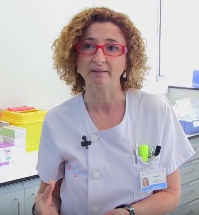 Violeta Navarro, enfermera de Dermatología