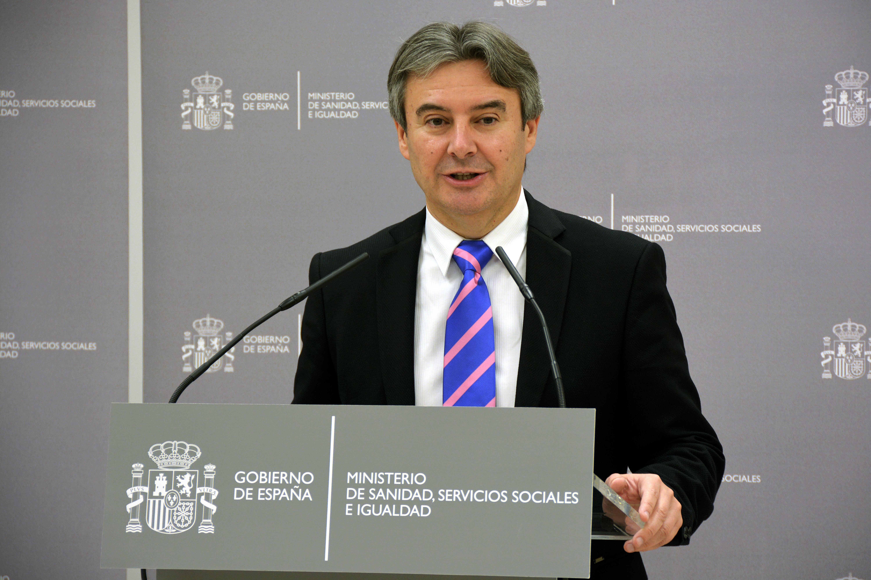 El secretario general de Sanidad, Rubén Moreno, durante la comparecencia posterior a la reunión