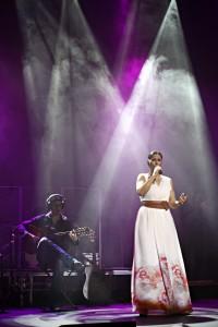 Rosa López en un concierto de su última gira. Imagen: David Cubero
