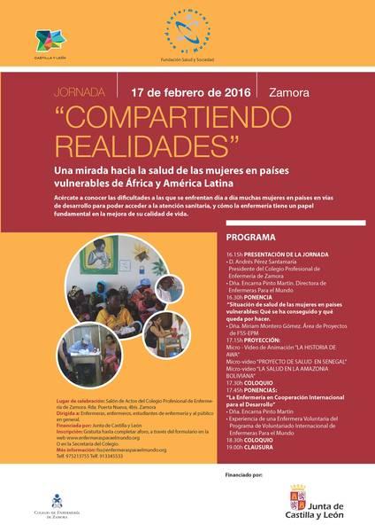 """Programa de las jornadas """"Compartiendo Realidades""""."""