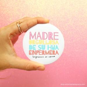 "Espejo ""Madre orgullosa de su hija enfermera"" 5 euros"