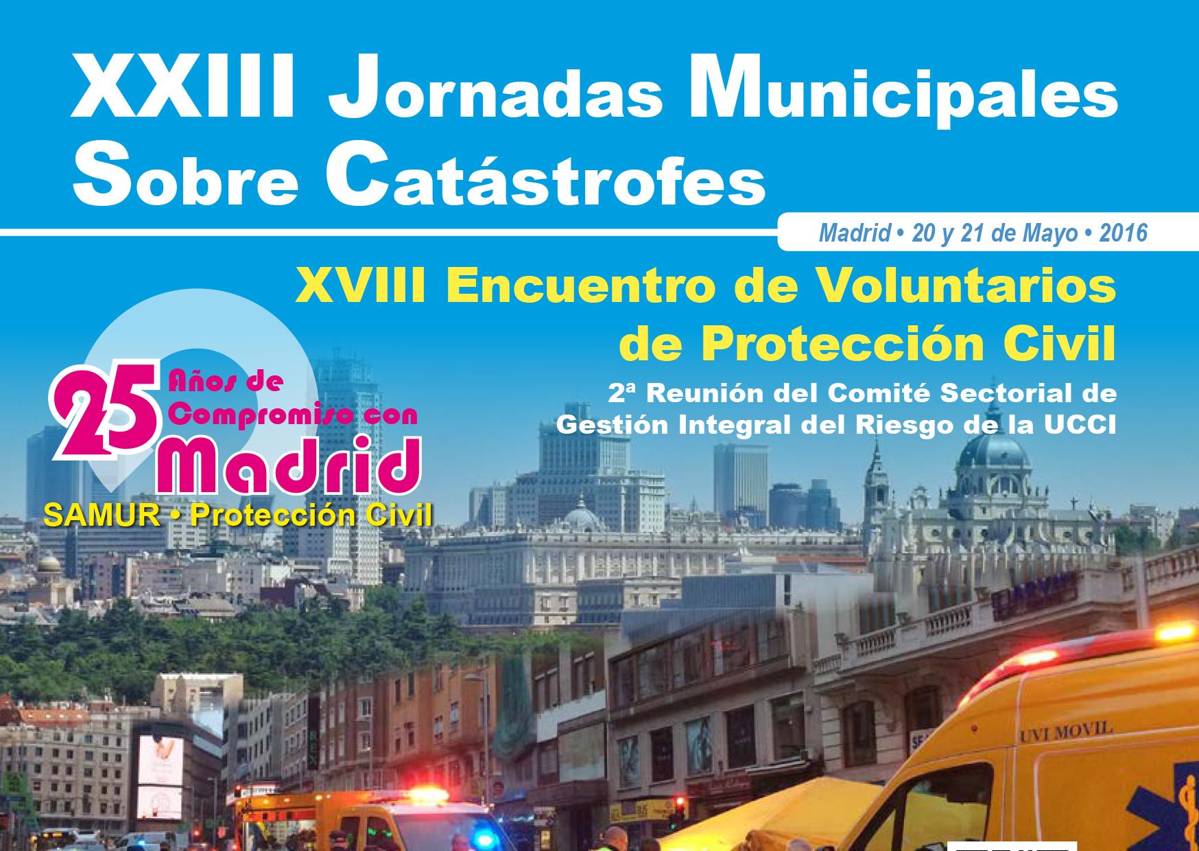 SAMUR - Protección Civil de Madrid celebra sus 25 años con unas jornadas sobre catástrofes
