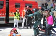 Un tiroteo, 28 rehenes y un accidente de tráfico: máximo realismo en un simulacro en Navarra