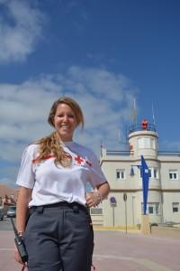 Cristina García, enfermera playa de Chiclana (Cádiz)