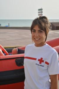 Marta Izquierdo, enfermera en las playas de Chiclana (Cádiz)