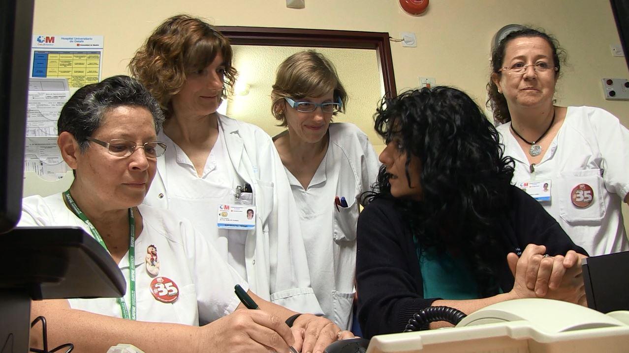 Algunas de las enfermeras que trabajan en la unidad