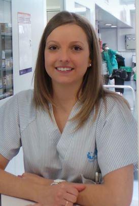 La enfermera Mónica Moreno