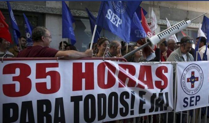La enfermería portuguesa, en huelga