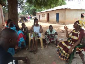 Un grupo de Banjenou Gox en los cursos de formación de Enfermeras Para el Mundo