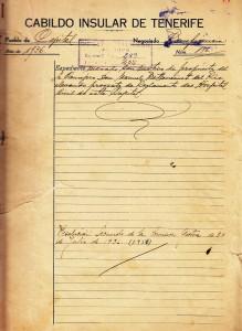 Expediente del Reglamento del Hospital Civil de Santa Cruz de Tenerife en 1936