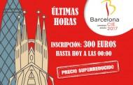Últimas horas para disfrutar de los precios reducidos en la inscripción de Barcelona 2017