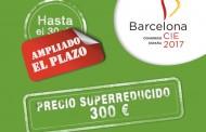 El CGE amplía el plazo de inscripción a precio reducido de 300 euros para Barcelona 2017