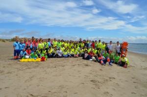 Foto de grupo de todos los participantes en el simulacro