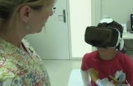 Realidad virtual para niños que calma la ansiedad antes de retirar un yeso