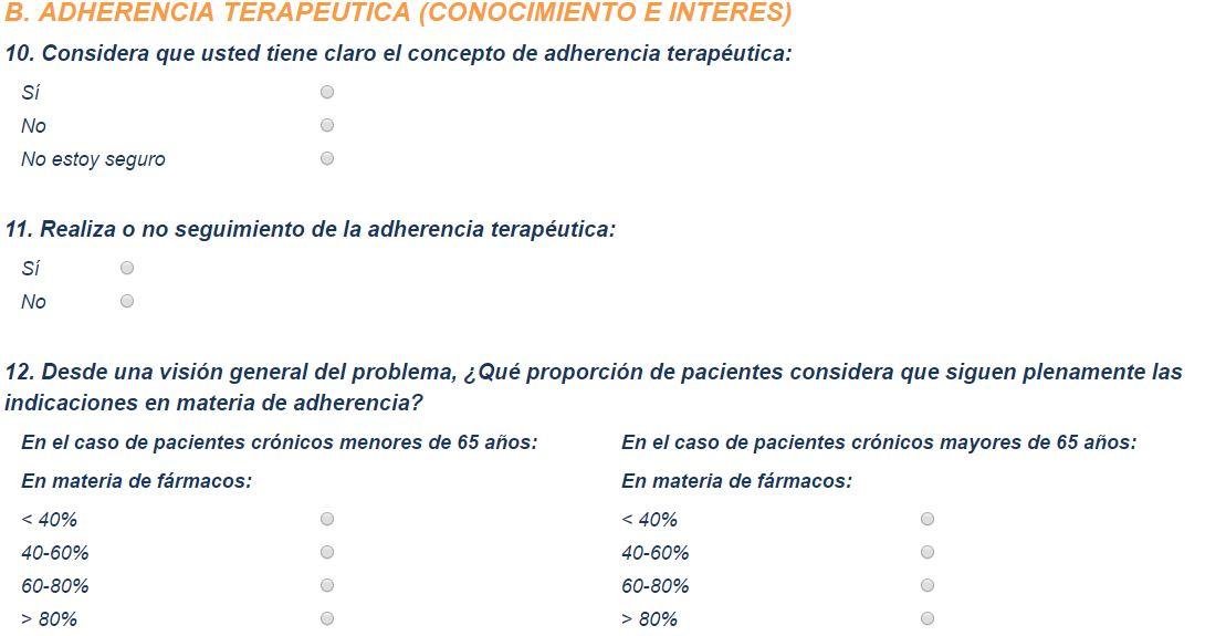 Una encuesta a enfermeras para analizar a fondo el problema de la adherencia terapéutica