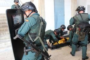 Grupo Rescate GC simulacro