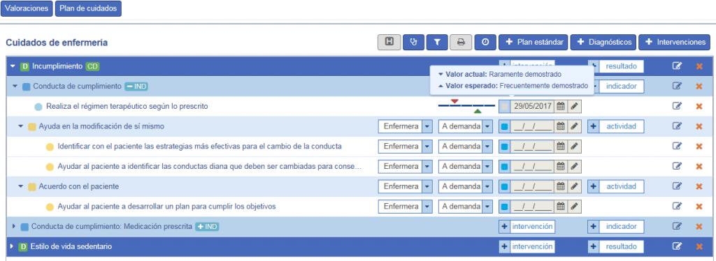 Imagen de la nueva herramienta para cuidados de enfermería de Castilla y León