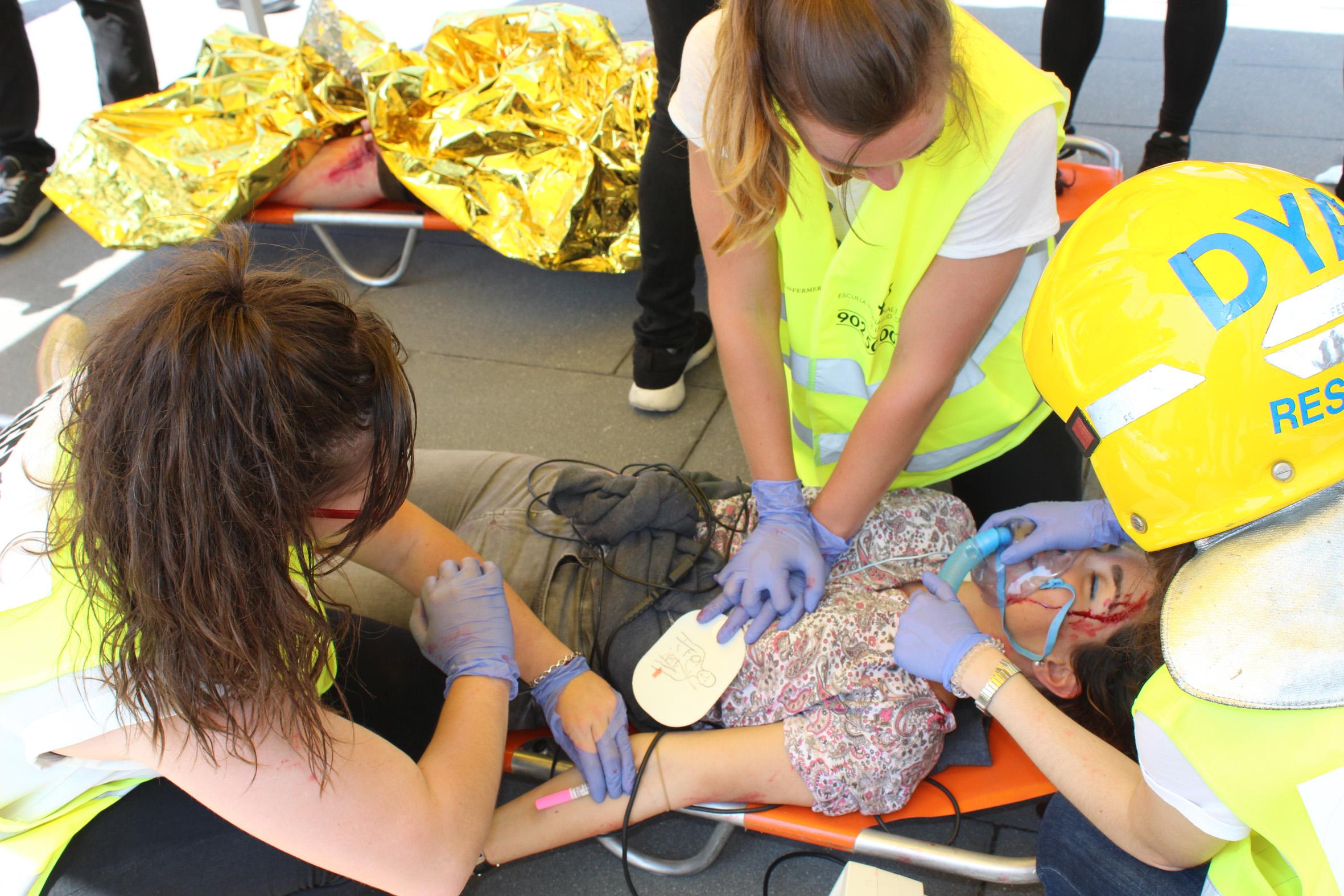 Un simulacro de atentado terrorista pone a prueba a enfermeros navarros