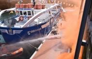 Más de 100 profesionales participan en un simulacro de emergencias en el puerto de San Sebastián