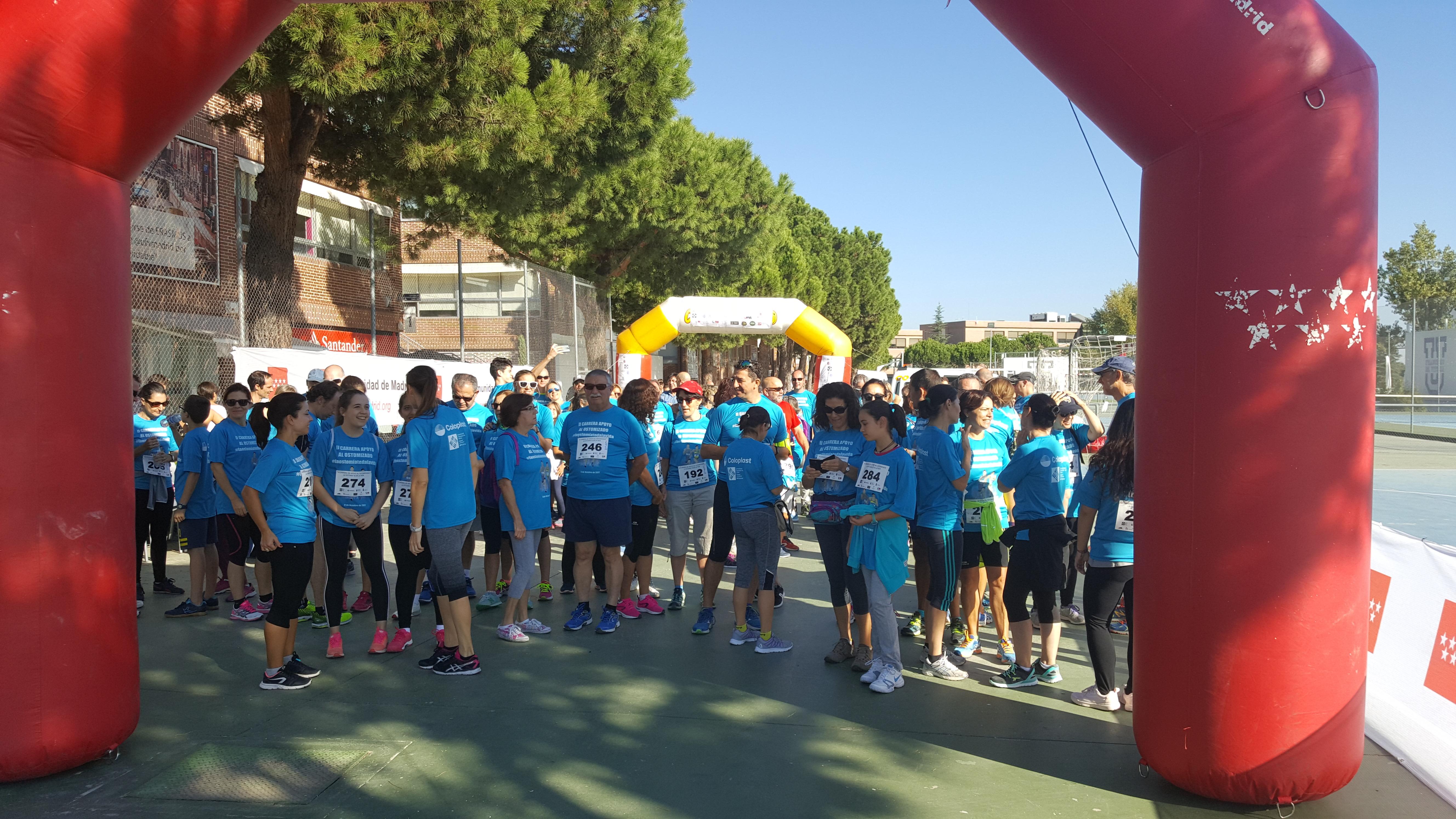 Gran éxito de la segunda carrera de apoyo al ostomizado en Madrid