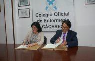 La Junta de Extremadura y el Colegio de Enfermería de Cáceres firman un convenio para la sostenibilidad de la Sanidad pública
