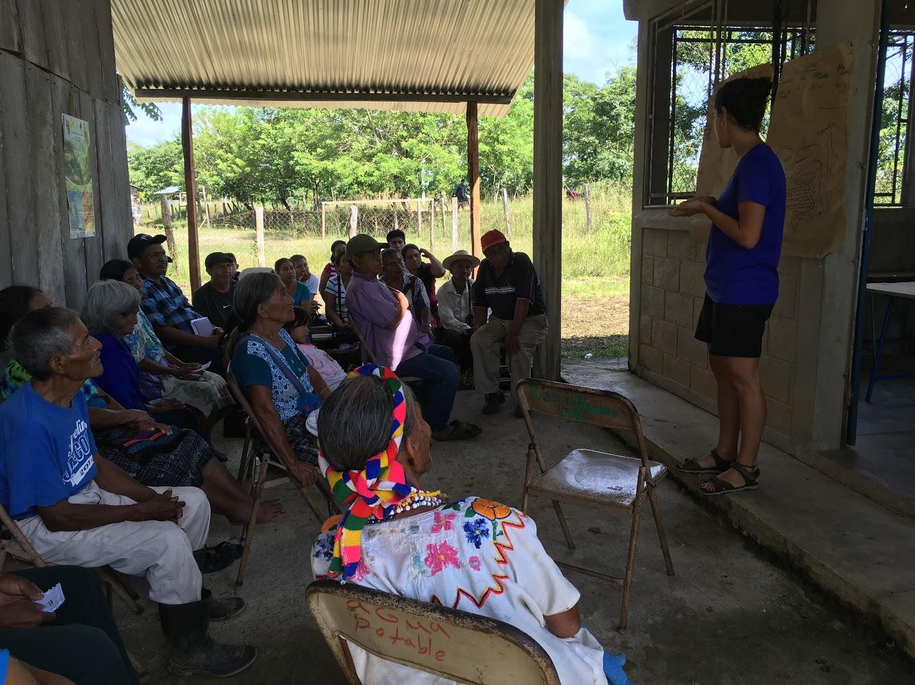 Taller de diabetes en Ixcán, Guatemala