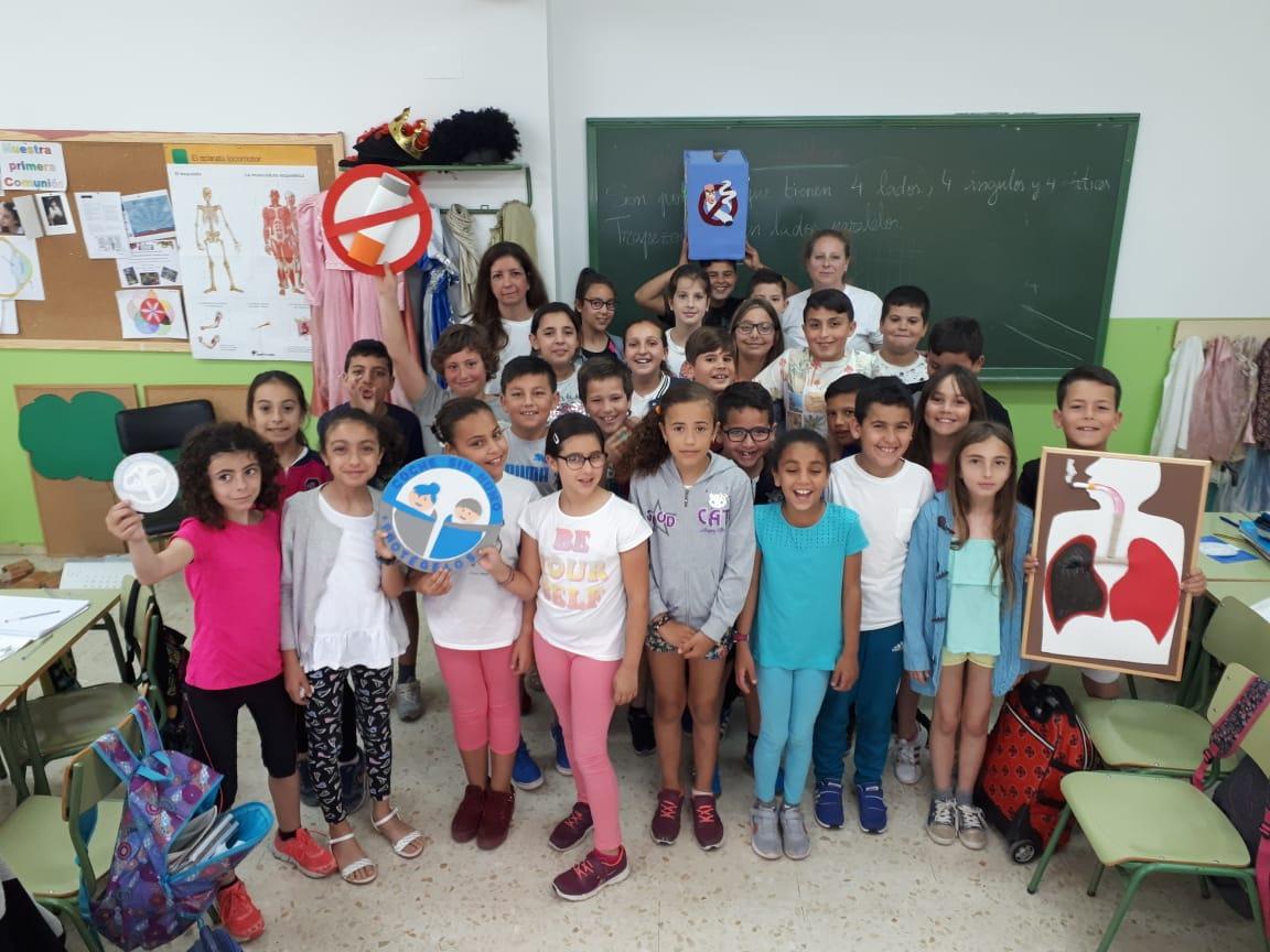 Los niños de Ceuta se suman a la campaña #CocheSinHumo