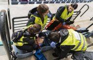 Más de 150 profesionales participan en un ejercicio práctico de Emergencias en San Sebastián