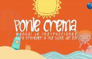 """El CGE pone en marcha """"Ponle Crema"""", una campaña dirigida a los padres para promover la fotoprotección de sus hijos"""