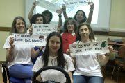 """Siete enfermeras llevan la campaña """"Coche Sin Humo"""" a los escolares de Soria"""