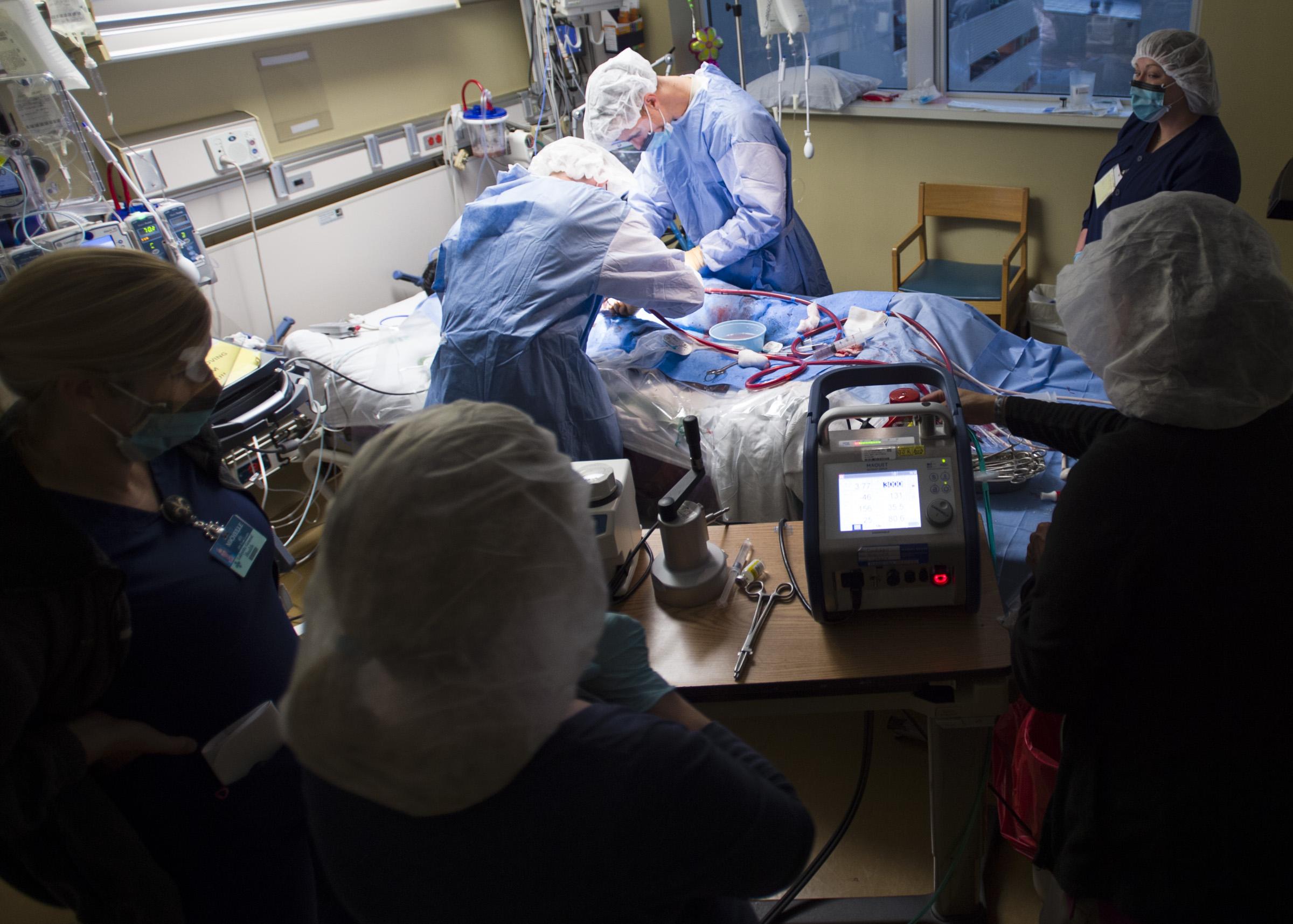Circulación extracorpórea urgente para salvar vidas
