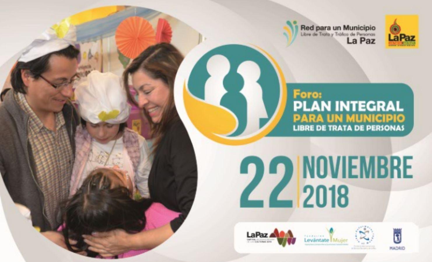 EPM organiza el I Foro Municipal contra la Trata y el Tráfico de Personas de La Paz (Bolivia)