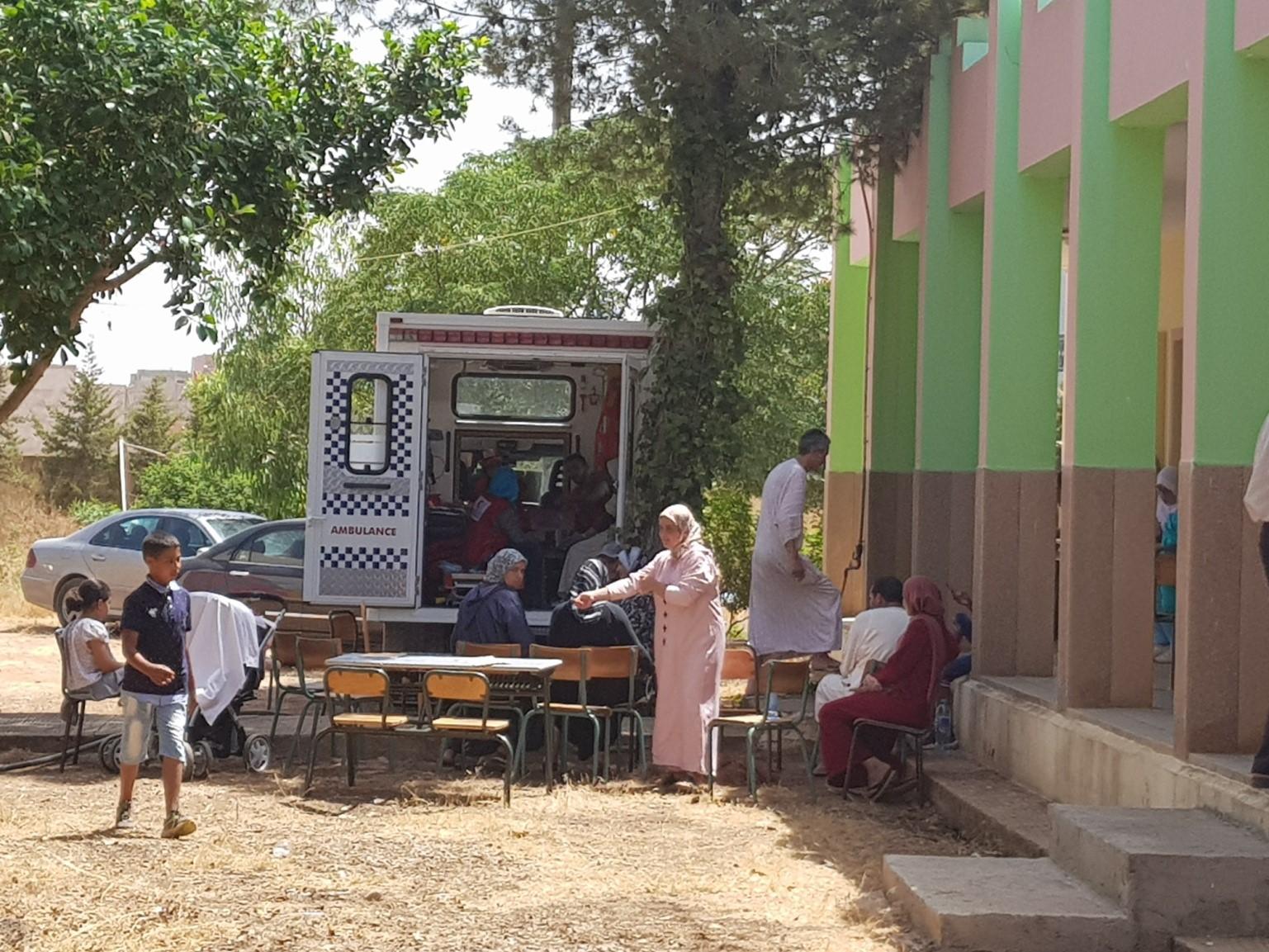 Caravanas sanitarias para mejorar la salud de las mujeres en Marruecos