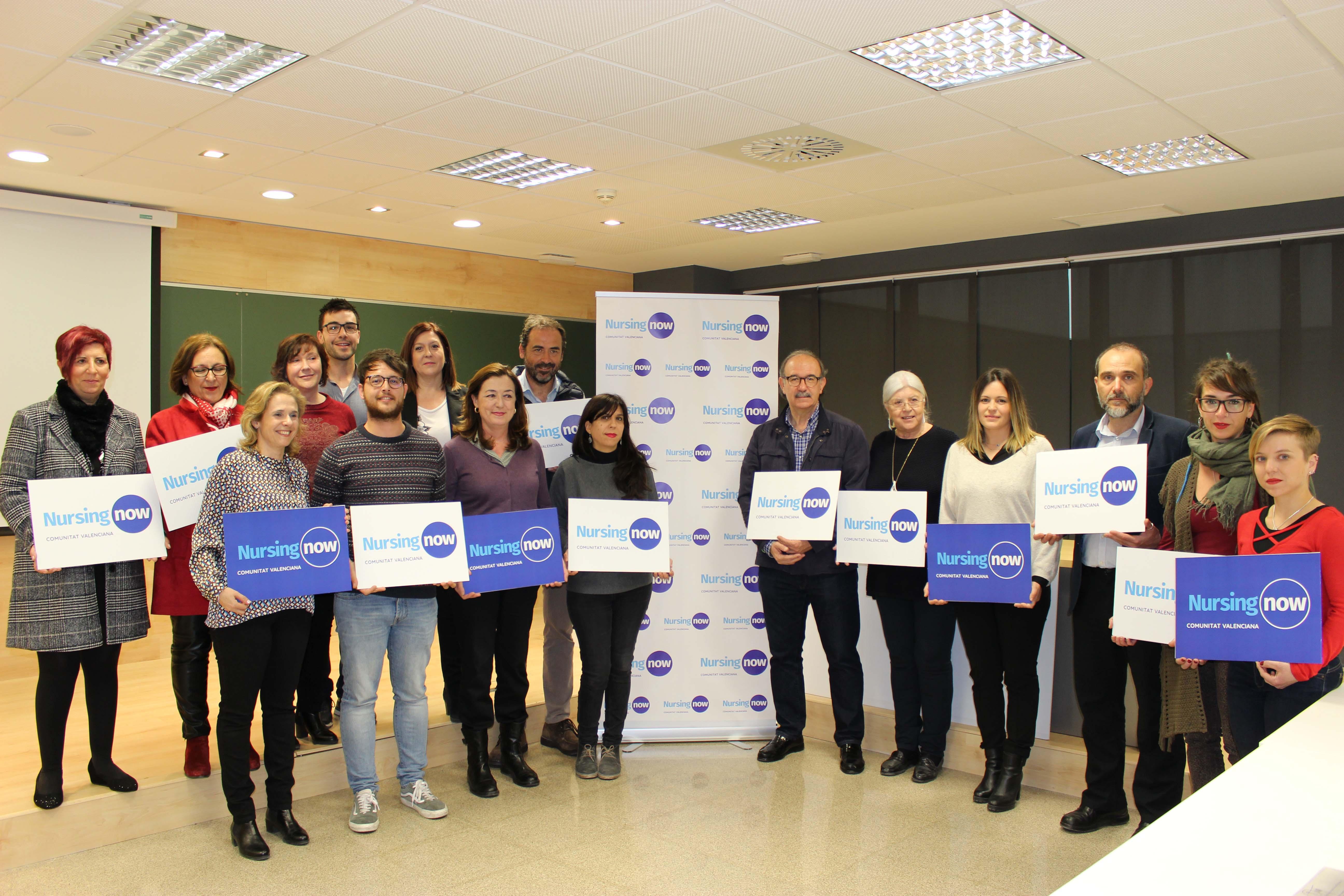 Constituido el grupo de trabajo de Nursing Now en la Comunidad Valenciana