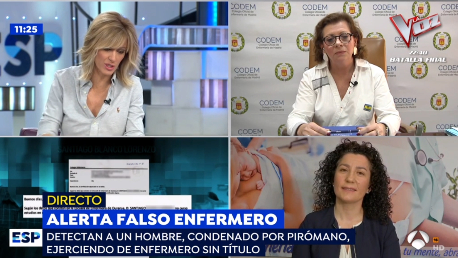 Los Colegios de Enfermería de Madrid y Lugo denuncian al falso enfermero pirómano