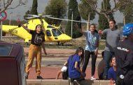 Los futuros enfermeros conocen de cerca las emergencias con un simulacro de atentado