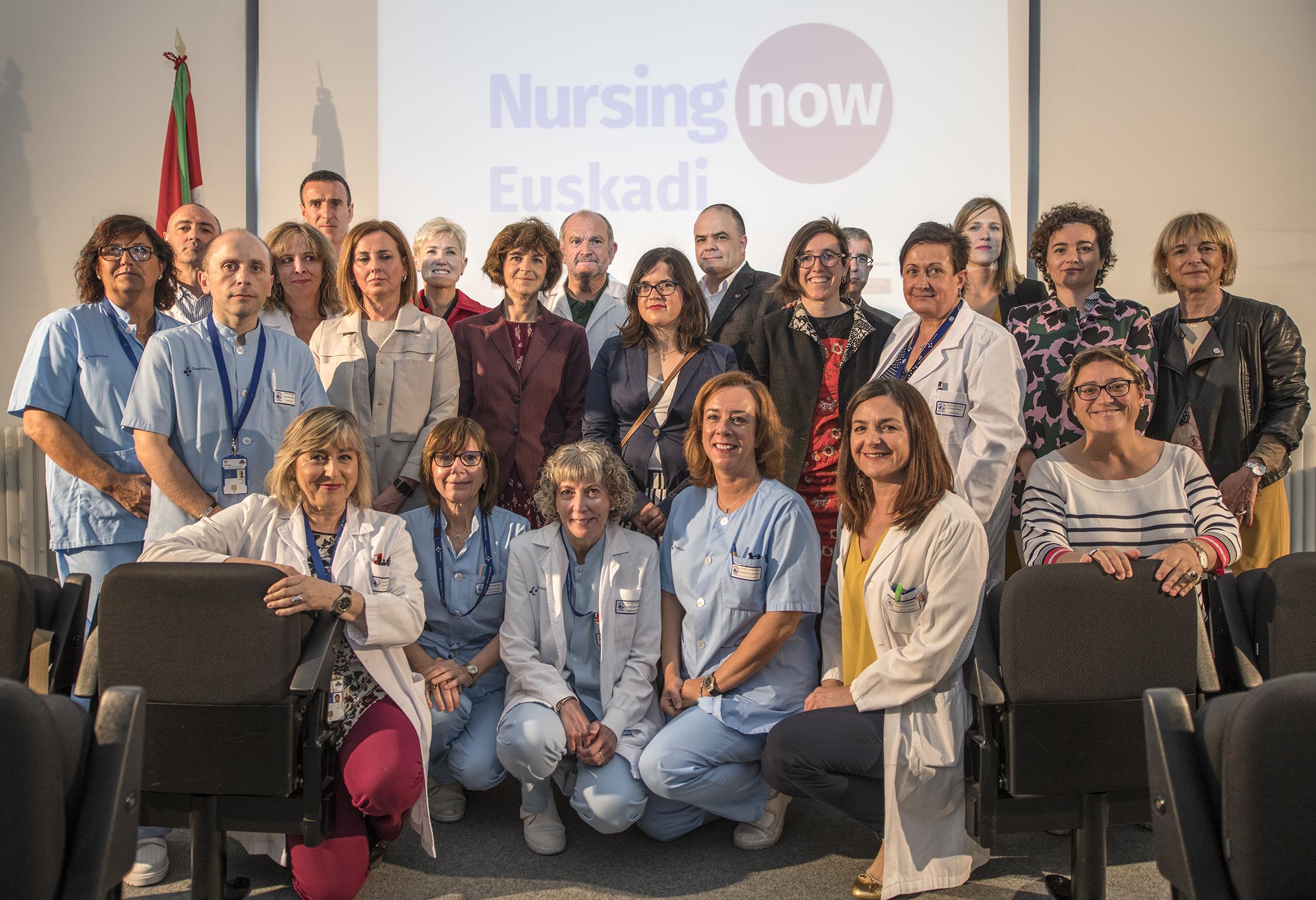 El País Vasco se adhiere a la campaña internacional Nursing Now para potenciar el papel de la enfermería